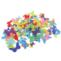 Bolehdeals 150 Pieces Self-Adhesive Butterflies Shaped Stickers For Kid Room Kindergarten Wall Decoration Diy Crafts Assorted Colors - Intl By Bolehdeals.