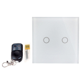 Bolehdeals 2 Way Led Crystal Glass Panel Light Touch Screen Remote Wall Switch White Intl Cheap