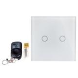 Sale Bolehdeals 2 Way Led Crystal Glass Panel Light Touch Screen Remote Wall Switch White Intl Bolehdeals
