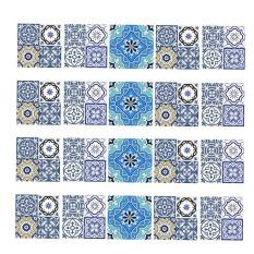 BolehDeals 20 Pieces Mosaic Wall Tiles Stickers Kitchen Bathroom Tile Decals A 10x10cm - intl