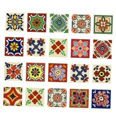 BolehDeals 20 Pieces Mosaic Wall Tiles Stickers Kitchen Bathroom Tile Decals C 10x10cm - intl