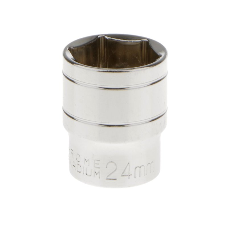 BolehDeals 24mm Short 1/2 Drive Socket Metric Hexagonal Chrome Winding Vanadium Part(Export)
