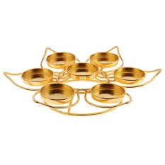 BolehDeals Assembled Butter Lamp Candle Holders Lotus Style for 7 Butter Lamp Candles - intl