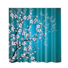 Bolehdeals Bathroom Decor Shower Curtain Waterproof Fabric With Hooks Plum Blossom - Intl By Bolehdeals.