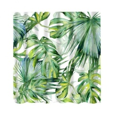Bolehdeals Bathroom Decor Shower Curtain Waterproof Fabric With Hooks Frond1 - Intl By Bolehdeals.