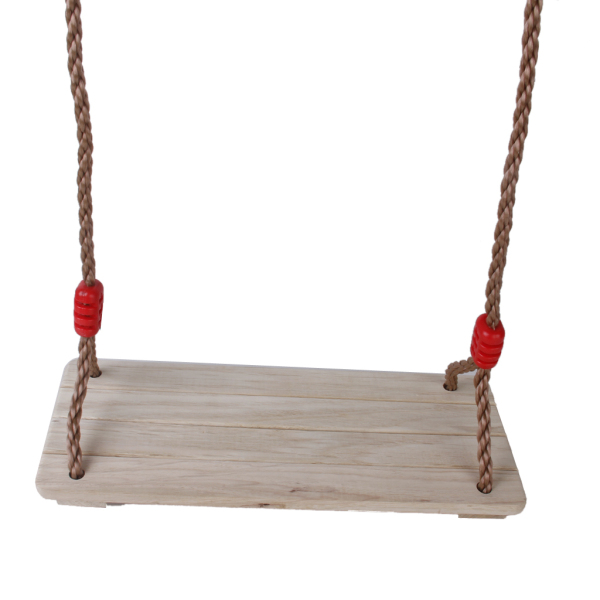 BolehDeals  Birch Wood Outdoor Swing Set Seat with Rope