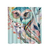 Wholesale Bolehdeals Extra Long Fabric Bath Shower Curtain 12 Hooks Bathroom Use Owl Intl