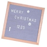 Buy Bolehdeals Felt Letter Board 10X10Inches Changeable Letter Boards With 340 White Plastic Letters Wood Frame Wall Mount Free Canvas Bag Intl Online