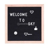 Compare Price Bolehdeals Felt Letter Board 10X10Inches Changeable Letter Boards With 340 White Plastic Letters Wood Frame Wall Mount Free Canvas Bag Intl On Hong Kong Sar China