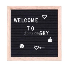 Review Bolehdeals Felt Letter Board 10X10Inches Changeable Letter Boards With 340 White Plastic Letters Wood Frame Wall Mount Free Canvas Bag Intl On Hong Kong Sar China