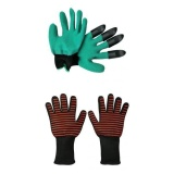 Review Bolehdeals Garden Gloves For Digging Planting Oven Gloves Oven Mitts For Kitchen Intl Bolehdeals On Hong Kong Sar China