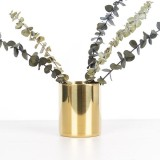 Bolehdeals Gold Brass Flower Vase Pen Holder Desktop Storage Container Tube Ornament Cylinder Hexagon Intl Lower Price