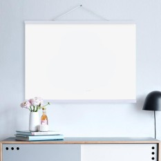 Bolehdeals Magnet Wooden Picture Frame Diy Photo Poster Painting Hanger 50Cm White Intl Cheap