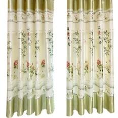 BolehDeals Pinch Pleat Curtain Blackout Window Blinds Shade Drape 200cmx200cm Bamboo - intl
