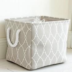 BolehDeals Portable Storage Basket Closet Toys Organizer Box Container Fabric Bin #2 - intl