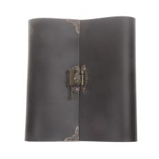 Low Cost Bolehdeals Pu Leather Photo Album Memo Book Diy Scrapbook Lock Vintage 24 X 22Cm Brown Export