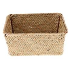 BolehDeals Pure Handmade Seaweed Woven Tray Light Food Storage Basket Box Holder Case M - intl