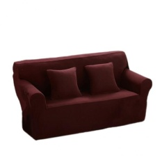 Buy Bolehdeals Spandex Stretch 2 Seater Sofa Couch Seat Cover Slipcover Case Coffee Intl Online Hong Kong Sar China