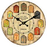 Cheap Bolehdeals Vintage Wall Clock Rustic Shabby Chic Home Kitchen Wooden 30Cm Decor 2 Intl