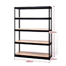 Blmg Boltless Rack 5Tier 1200 1800 Black Free Delivery Lowest Price