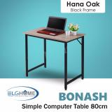 Bonash Simple Modern Computer Table Length 80Cm Black Leg Free Install Delivery Best Buy