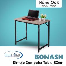 Who Sells Bonash Simple Modern Computer Table Length 80Cm Black Leg Free Install Delivery Cheap