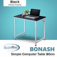 Sale Bonash Simple Modern Computer Table Length 80Cm White Leg Free Install Delivery Singapore Cheap