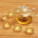Buy Borosilicate Glass Tea Pot Set Infuser Teapot Warmer 6 Double Wall Tea Cups Intl Oem