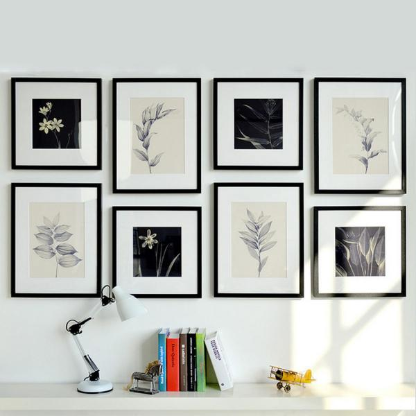 Botanical Art, Framed Print Art (8 Pieces)