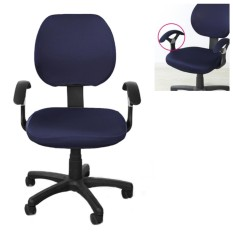 Brand New Office Separated Chair Cover Flower Type Swivel Chair Computer Armchair Protector Executive Task Slipcover Back Seat Cover - intl