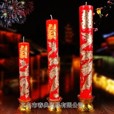 Bridal wedding room layout wedding festive candles candle candle (Golden Dragon wedding fast delivery) - intl