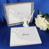 Where Can You Buy Bride And Groom White Wedding Guest Book Engagement Anniversary Guestbook Album Party Decor Supplies Intl