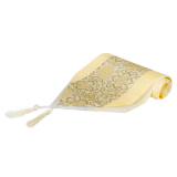 Review Brocade Table Runner Gold Export On China