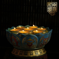 Ceramic For Buddha Butter Lamps Lotus Lamp Candle Sets China