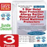 Buy Cheap Bundle Additional Discount Nile Valley S 5 Star Hotel Maxi Protection Allergy Barrier Waterproof Cool Fitted Mattress Protectors 3 Pieces