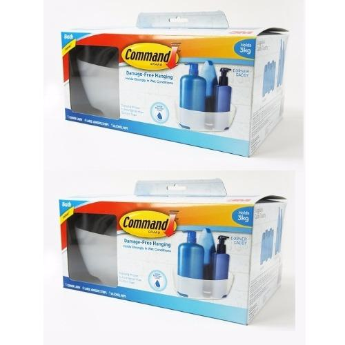 3m Command Frosted Bath Organization - Corner Caddy [ Bundle Of 2 ] By 3m Official Store.