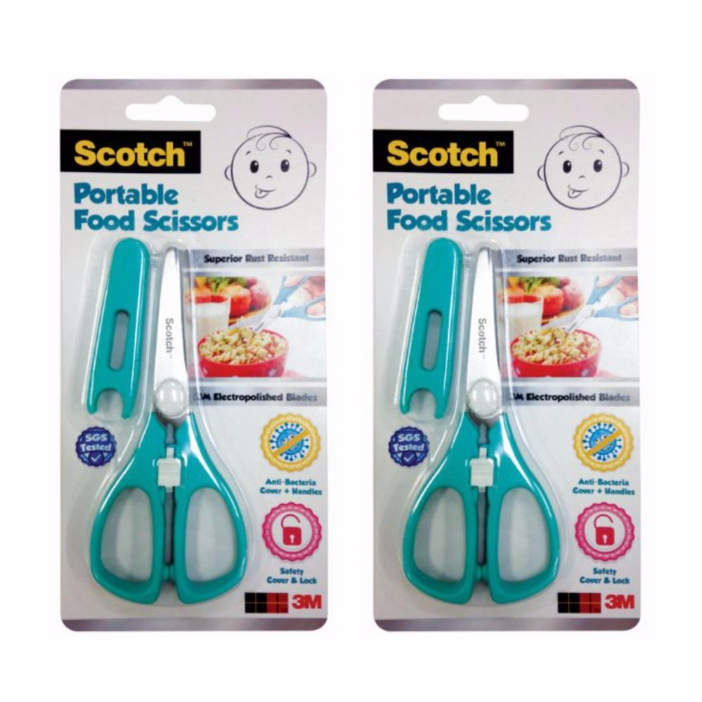 3m Scotch Portable Food Scissors - Teal [bundle Of 2] By 3m Official Store.