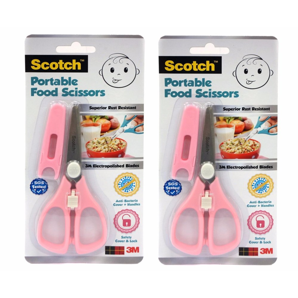 3m Scotch Portable Food Scissors - Pink [bundle Of 2] By 3m Official Store.