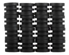 burmab Anticollision 5/8 Inch Foosball Rods Rubber Bumpers For Foosball Table (Black)