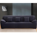 Buy Cheap Buyincoins Fashion L Shape Textile Spandex 3 Seaters Sofa Cover Furniture Protector Couch Slipcover Home Decoration Black 3 Seaters Intl