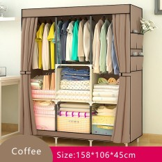 Popheko BYL Large Wardrobe Rack with Curtains