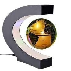 C-Shape Stylish Decorative Magnetic Levitate Floating World Map Globe LED Light - intl