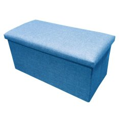 C01 Canvas Foldable Storage Ottoman Large Blue Promo Code