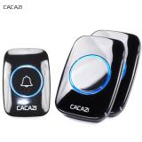 Buy Cacazi Home Living New Waterproof Wireless Doorbell A10 300M Remote Call Uk Plug Smart Door Bell Chime 110V 220V 1 Button 2 Receiver Intl Cheap China