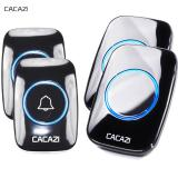 Cacazi Home Living New Waterproof Wireless Doorbell A10 300M Remote Call Uk Plug Smart Door Bell Chime 110V 220V 2 Button 2 Receiver Intl Compare Prices