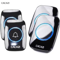 Best Buy Cacazi Home Living New Waterproof Wireless Doorbell A10 300M Remote Call Uk Plug Smart Door Bell Chime 110V 220V 2 Button 2 Receiver Intl