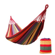 CAMTOA Outdoor Furniture Leisure Canvas Hammocks 175cm*80cm Red - Intl