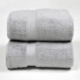 Price Canopy Luxe Egyptian Cotton Bath Towel Grey 2Pcs Canopy Luxe Online