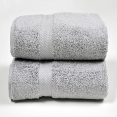 Canopy Luxe Egyptian Cotton Bath Towel Grey 2Pcs Free Shipping