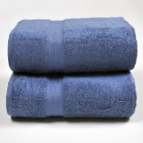 Canopy Luxe Egyptian Cotton Bath Towel Navy 2Pcs Sale